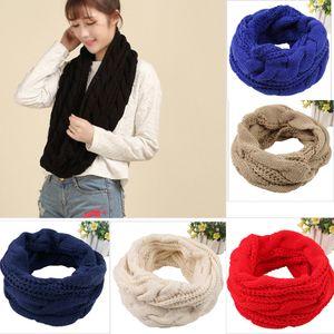 Gestrickte Crochet Frauen-Schal Winter-warmer Ansatz-Kragen Warmwer Mode festen weiche Schal-Verpackungs-Tropfen-Schal Femme Versand