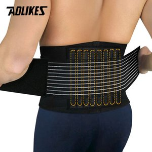 AOLIKES 1PCS Lumbar Support Waist Pain Back Injury Supporting Brace For Fitness Weightlifting Belts Sports Safety Corrector T191226