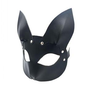 Seks Ürünleri PU Deri Hood Tavşan Maske Başlık Kölelik Köle Yetişkin Oyunları içinde Çiftler Fetiş Flört Oyuncaklar Kadın Erkek Eşcinsel