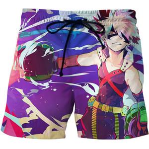 2020 New Beach Shorts Anime My Hero Academia 3D Print Streetwear Short Trunks Men Fashion Swimwear Sport Pants Board Shorts Male