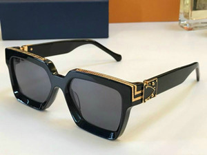 Lunettes de soleil de luxe MILLIONNAIRE pour les hommes plein cadre de lunettes de soleil vintage pour les hommes Logo or brillant chaud vente plaqué or Top 96008