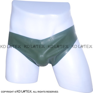 Amy Green Sexy Latex Briefs Rubber Shorts Underpants Latex Underwear bottoms Panties Shorts for men male DK-0063