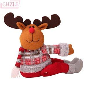 CHZLL 1pc Big Merry Christams Elk Snowman Babbo Natale Doll Baby Christmas Ornamenti 2019 Decorazioni natalizie per la casa Noel Party Navidad