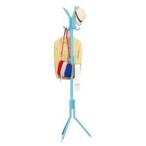 Твердая Iron Вешалка напольная Coat Rack Creative Главная Мебель Одежда Висячие хранения Стойки Вуд Вешалка Сушка Bedroom стойки