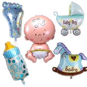 5Pcs Set Baby Shower Balloons Aluminum Foil Helium Balls Boy Girl Air Balloons Toys Baby Birthday Party DIY Decoration Supplies