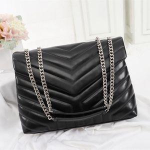 Luxusdesigner Handtaschen Loulou Y-förmig gesteppte echte Leder Frauen Taschen Kette Umhängetasche Hohe Qualität Klappenbeutel Multiple Farbe für Choo