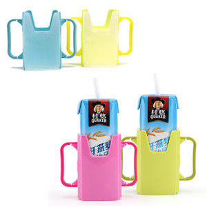 Japanese Infant Drinks Cup Holder Adjustable Milk Box Support Spill-proof Case for Baby Drinking Milk Water