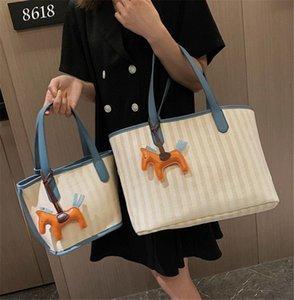 Hot Color Contrast Braid Hand Bill Lading Shoulder Bag Versatile Large Capacity PH-CFY20060414