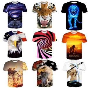 2020 Fashionable dupla face 3D impresso T-shirt camisetas Designer O-pescoço dos homens moda impressão T-shirts de manga curta Mens Tops camisetas