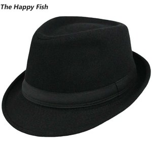Lana Unisex Strutturato cappelli originali Fedora Hat Fedora per uomo fedora cappello di feltro dimensione della testa 58 centimetri T200323