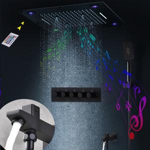 24 인치 MUSIC 샤워 SYSTEM 3 FUNCTIONS SHOWER HEAD BIG RAIN 폭포 MISTY LED의 SHOWER SE를 숨기고 LED