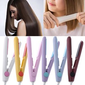 2019 Nueva moda Mini plancha de pelo Planchas planas profesionales Calentador PTC Herramientas para el cabello Enchufe portátil ultra delgado de EE. UU.