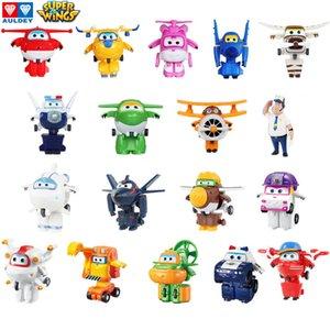Auldey Süper Wings Mini Robotlar 19 Karakterler Tek Dönüştürme Uçak Animasyon Oyuncak Çocuk Boy Kız Yılbaşı Hediyeleri 3T + Figures