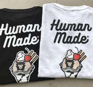 Impression crème glacée MADE T HUMAN Hommes Femmes meilleure qualité T-shirts occasionnels Hauts ANTHROPIQUES