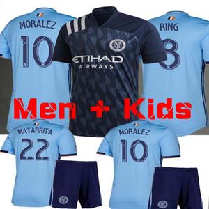 kits uniformes camiseta de fútbol de los hombres + KIDS 2019 2020 NUEVA YORK FC ANILLO MORALEZ MEDINA Matarrita Mitriţă Niños camisetas de fútbol kit