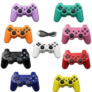 Şarj Cihazı ile Uzaktan Kablosuz Gamepad Renkli Kablosuz Bluetooth Game Controller için PS3 2.4GHz Sony Playstation 3 Controle Joystick Gamepad