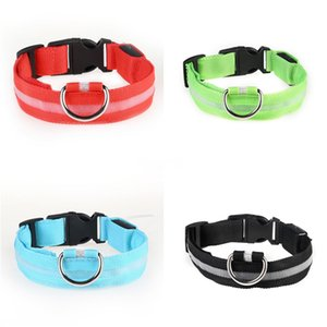 Muttco Einzelhandel Qualitäts-Haustier-Led Collar Walking Training Hundeleine Das Blau Grün Plaid Kreatives Design Hund Led Kragen Zubehör 5 S # 78
