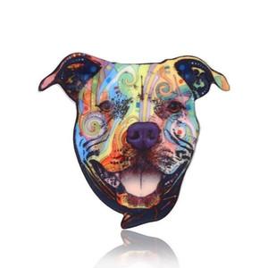 (7 Stilleri) Köpek Kafası Hayvan Broş Pins İçin Kadın Erkek-Akrilik Pin Rozetleri Moda Elbise Ceket Aksesuarları Takı