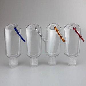 Бутылка дезинфицирующего средства для рук 50 мл для дезинфицирующей жидкости откидная верхняя крышка с крючком для ключей прозрачная пластиковая бутылка для путешествий