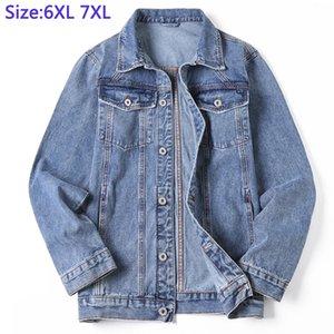 6XL 7XL Jackek For Men's Denim Thick Casual super large coat High Quality mens Denim Jacket Cotton plus size XL -7XL
