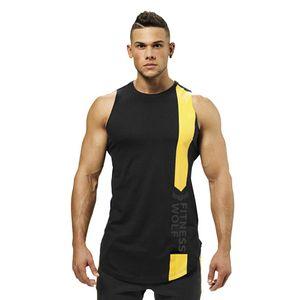 Mens Casual Fitness Sportswear Débardeurs Pour L'été Mâle Sans Manches Jogger Muscle Gymnase Singlests Gilets Undershirts