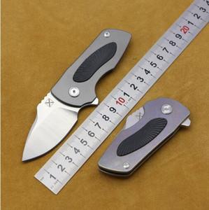 Origine YX-630 champ poignée en alliage de titane de la lame de couteau pliant 14C28N de survie outil couteau de pêche d'alpinisme de chasse extérieure extérieure ED