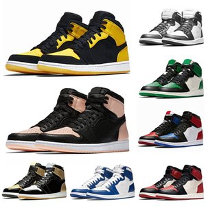Air Jordan Retro 1 OG Satin Shattered Backboard Herren Basketballschuhe Königsblau Chicago Golden Top 3 Lila Damen Turnschuhe