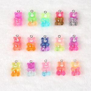 Günstige Charms 32pcs 20 * 13mm HarzCabochons Flatback Gummibärchen Süßigkeiten Halsketten-Charme DIY Scrapbooking Verschönerung Dekoration Craft