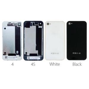 Задняя крышка корпуса для iPhone 4 4S Задняя крышка аккумулятора Крышка корпуса Заднее стекло для iPhone 4g 4s Запасные части