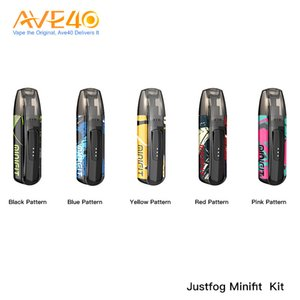 Original Justfog Minifit Pod Kit New color with 370mAh Battery 1.5ml Empty Justfog Minifit Cartridge Capacity