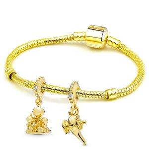 Buipoey simples pulseira Aladdin Lâmpada Mágica Mulheres Homens Queen Bee Cobra Cadeia DIY Bangle Mulheres Jóias presente