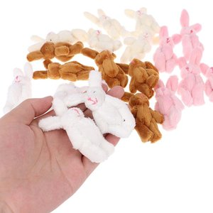 10pcs 6 centimetri 4colors morbida Mini articolazione coniglio pendente catena peluche Bunny per la chiave Bouquet giocattolo bambola fai da te ornamenti regalo