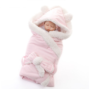Hiver Bébé Garçons Filles Couverture Wrap Double Couche Polaire Bébé Swaddle Sleeping Bag Pour Les Nouveau-Nés Bébé Literie Couverture