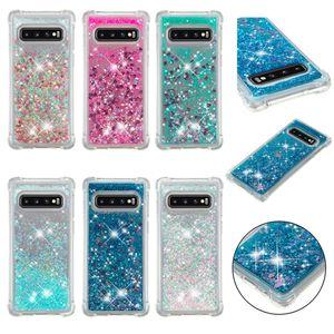 Quicksand anti-queda capa tpu para samsung galaxy s8 s9 s10 mais s10e s10 lite m10 m20 note9 note8 s7 casos de telefone designer de luxo