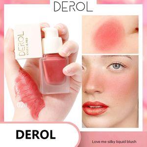 DEROL 액체 블러셔 6Colors 치크 블러쉬 매트 방수 롱 사무실 인과 사용 메이크업을 위해 착용하는 립스틱 쉬운 지속