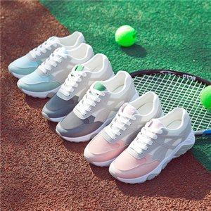 casual shoes spring summer 2020 women running recreation korean edition breathable round head flat outdoor lace-up shoes wholesale F1709036