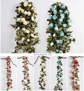 210 см поддельные большие шелковые розы плющ Лоза искусственные цветы с листьями ротанга главная свадьба висит украшение гирлянда декор Роза Лоза