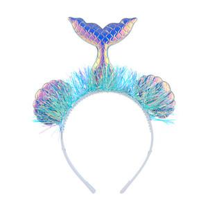 Gaze animal Accessoire cheveux sirène Ornement enfant Hairs Belle Hoop supérieure de qualité avec différentes couleurs Motif 3 9LT J1