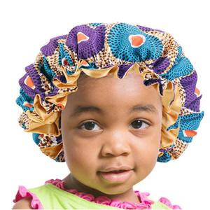 Africaine Imprimer Ankara Bonnet New Fashion Bonnet Grande tache pour les enfants Beanies enfants Sommeil Cap Headwrap Chapeau Accessoires cheveux Wrap