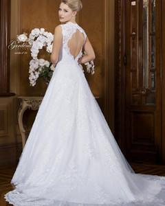 2020 Nouvelle robe de Tulle Off la robe de mariage shouder Robes sexy dos nu 2 deux pièces détachables jupe Robes de mariée