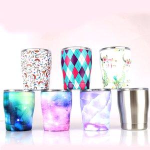 뚜껑 스테인리스 커브 텀블러 12온스 여러 가지 빛깔의 곡선 텀블러 물병 스템리스 곡선 컵 커피 맥주 머그잔