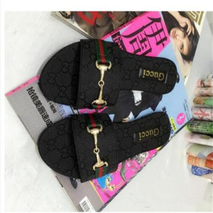 2020 Fashion Women Slide Sandals Designer Shoes Slide Summer Wide Flat Slipper With Thick Sandals Slipper Flip Flops size 35-42