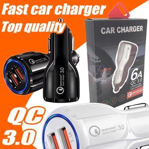 Car Charger carro rápido carga 3.1A carga rápida carro Qualcomm rápida dupla de telefone USB carregador 9V 2A 12V 1.2A QC3.0