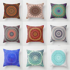 Bohême Mandala Taie D'oreiller motif Canapé Décoratif Housse de coussin pour la décoration intérieure 45x45 cm Peau De Pêche taie d'oreiller 9 styles T2I5816