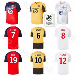 19 20 Lille Soccer Jersey 7 OSIMHEN 9 REMY 10 IKONE 18 SANCHES 21 ANDRE 11 ARAUJO 14 BAMBA Team Football Shirt Kits