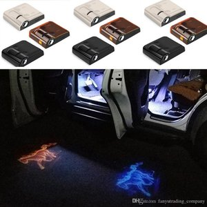 1PCS Wireless-geführte Auto-Tür-Willkommens-Laser-Projektor Logo-Geist-Schatten-Licht für Volkswagen Ford BMW Toyota Hyundai Kia Mazda Audi