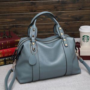 Female Large Capacity Top-handle Bags High Quality Leather Women Handbags Luxury Ladies Boston Bags Shoulder Crossbody Bags