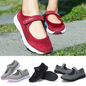 2020 Women Mesh Magic Sticker Shoes Summer Sandals Anti Slip Fitness Running Lightweight Sports Shoes Beauty 35- 42 DROP Y1655