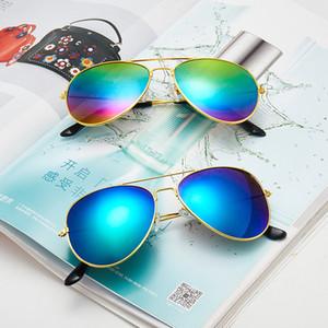 les femmes de design de luxe couleur Film Grand cadre Toad Lunettes de soleil pour hommes et femmes Lunettes de soleil en métal polarisants Sunglasse