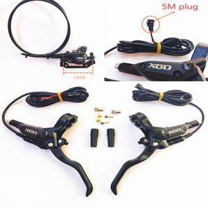 Nueva 1 juego de EBike freno de disco hidráulico interrupción de la alimentación de frenos SM enchufe EBike Vespa bricolaje montaje Frenos parte posterior del frente
